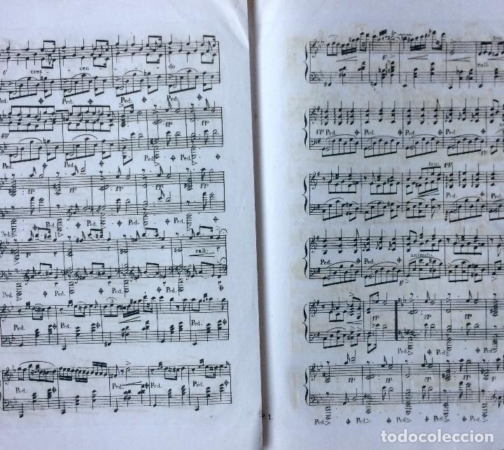 Partituras musicales: LITOGRAFÍA DE PARTITURAS ÁLBUM DE LA YBERIA MUSICAL 1844 - Foto 6 - 72886971