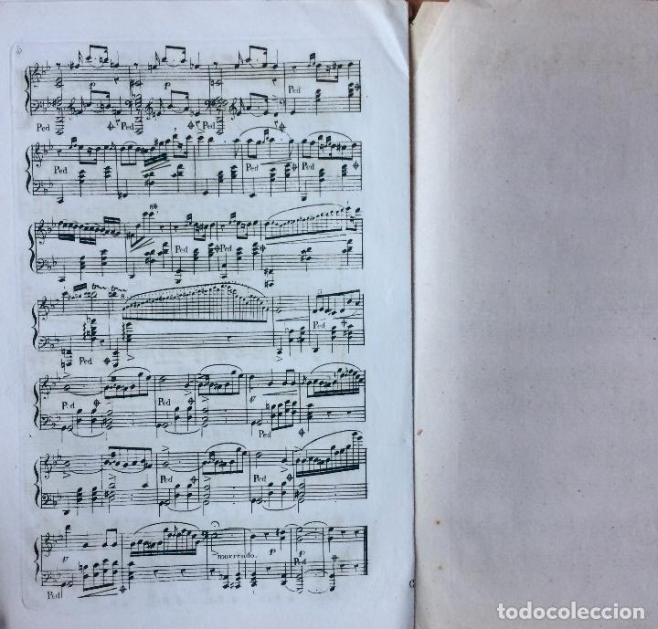 Partituras musicales: LITOGRAFÍA DE PARTITURAS ÁLBUM DE LA YBERIA MUSICAL 1844 - Foto 7 - 72886971