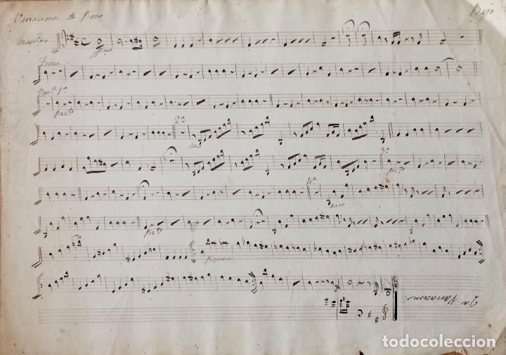 PARTITURA MANUSCRITA DEL SXIX (Música - Partituras Musicales Antiguas)