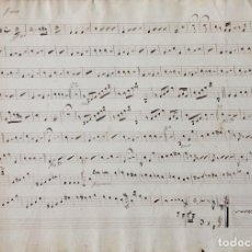 Partituras musicales: PARTITURA MANUSCRITA DEL SXIX. Lote 72887639