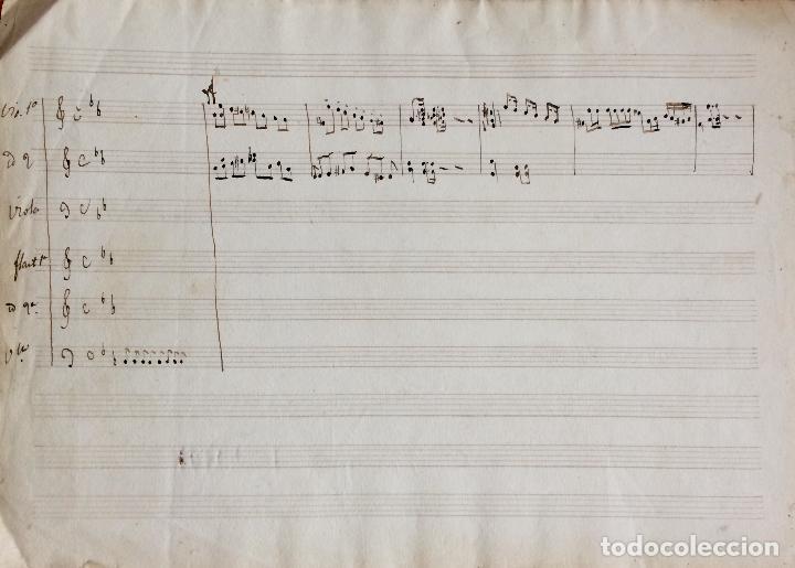 Partituras musicales: PARTITURA MANUSCRITA DEL SXIX - Foto 2 - 72887639