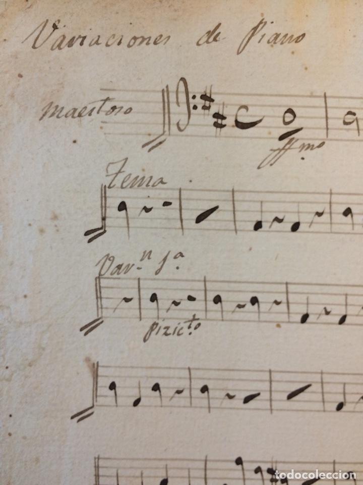 Partituras musicales: PARTITURA MANUSCRITA DEL SXIX - Foto 3 - 72887639
