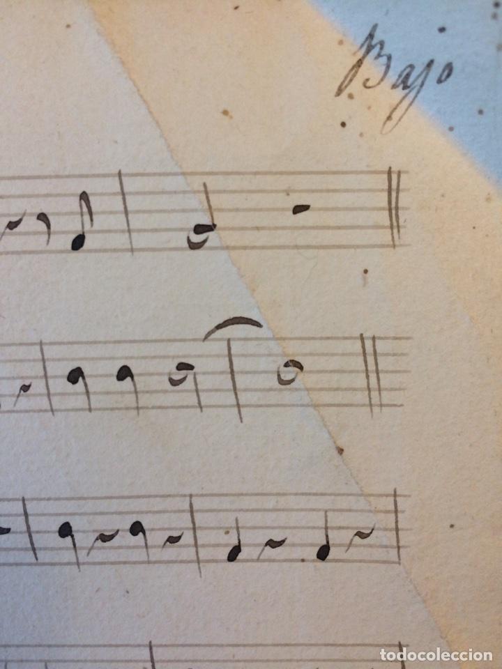 Partituras musicales: PARTITURA MANUSCRITA DEL SXIX - Foto 4 - 72887639