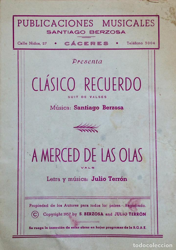 PUBLICACIÓN MUSICAL DE SANTIAGO BERZOSA DE 1957 (Música - Partituras Musicales Antiguas)