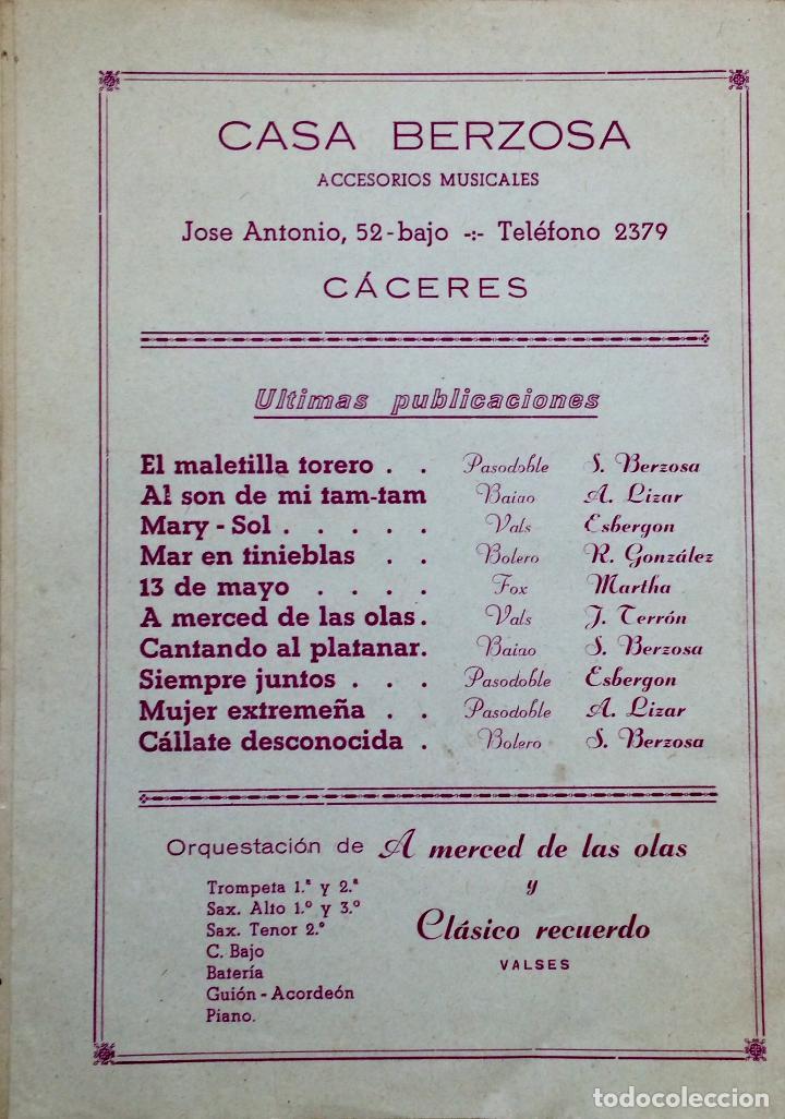 Partituras musicales: PUBLICACIÓN MUSICAL DE SANTIAGO BERZOSA DE 1957 - Foto 2 - 72888503