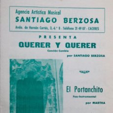 Partituras musicales: PUBLICACIÓN MUSICAL DE SANTIAGO BERZOSA DE 1973. Lote 72889795