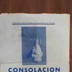 Partiture musicali: CONSOLACIÒN, CANCIÒN, LETRA ALVAREZ QUINTERO 1905?. Lote 73541547