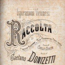Partituras musicales: DONIZETTI : ISPIRAZIONI VIENESI - RACOLTA (RICORDI). Lote 73809683