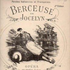 Partituras musicales: BENJAMIN GODARD : BERCEUSE DE JOCELYN (CHOUDENS). Lote 73814679