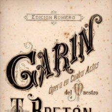 Partituras musicales: TOMÁS BRETÓN : GARIN - SARDANA (ROMERO). Lote 73815751