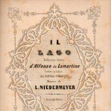 Partituras musicales: LAMARTINE / NIEDERMEYER : IL LAGO (LICCA). Lote 73829567