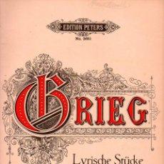 Partituras musicales: GRIEG : LYRISCHE STÜCKE OP. 54 (LEIPZIG). Lote 73831219
