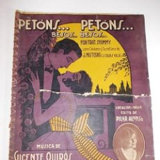 Partituras musicales: ANTIGUAS PARTITURAS DE FOX-TROT. PETONS... COSIDAS A MANO CON VARIAS EN EL INTERIOR. Lote 74177619
