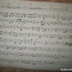 Partituras musicales: PARA CLARINETE 2º TORERO BOMBITA PASODOBLE PARTITURA MANUSCRITA ANTIGUA. Lote 74696031