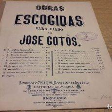 Partituras musicales: PARTITURA / OBRAS ESCOGIDAS. EL CANTO DE LA LIBERTAD / JOSÉ COTÓS. SINDICATO MUSICAL BARCELONÉS.. Lote 75818735