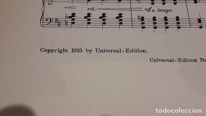 Partituras musicales: PARTITURA / DEUTSCHES LIED. EGON WELLESZ. UNIVERSAL EDITION. LEIPZIG - 1915. - Foto 4 - 76364471