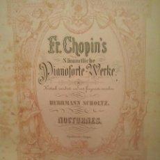 Partituras musicales: CHOPIN, FEDERICO 19 NOCTURNOS,5 IMPRONTUS Y FANTASIAS 27 ESTUDIOS II TOMO ENCUADERNADO. Lote 76408143