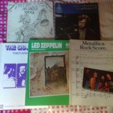 Partituras musicales: LOTE 5 LIBROS DE PARTITURAS ROCK HEAVY. Lote 78126313