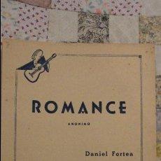 Partiture musicali: ROMANCE ANONIMO.DANIEL FORTEA.ESCUELA DE GUITARRA.1959. Lote 78290709