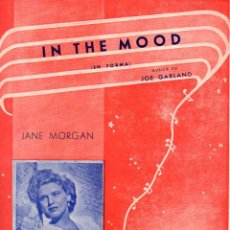 Partituras musicales: JANE MORGAN : IN THE MOOD. Lote 78734189