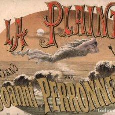Partituras musicales: PERRONNET : LA PLAINTE - VALSE POUR PIANO. Lote 78755553
