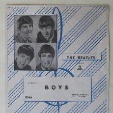 Partituras musicales: BOYS - DIXON & FARRELL - THE BEATLES - GRAMOFONO-ODEON. Lote 83286984