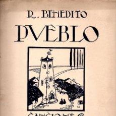Partituras musicales: BENEDITO : PUEBLO - CANCIONES POPULARES CUADERNO 1º (UNIÓN MUSICAL). Lote 79631045