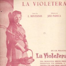 Partituras musicales: SARA MONTIEL : LA VIOLETERA (UNION MUSICAL, 1957). Lote 79633661