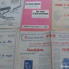 Partituras musicales: LOTE DE VARIAS PARTITURAS ANTIGUAS . Lote 99225490