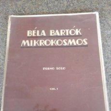 Partituras musicales: MIKROKOSMOS -- BELA BARTOK -- PIANO -- VOLUMEN 1 -- EDITORES BOOSEY & HAWKES -- . Lote 80121409