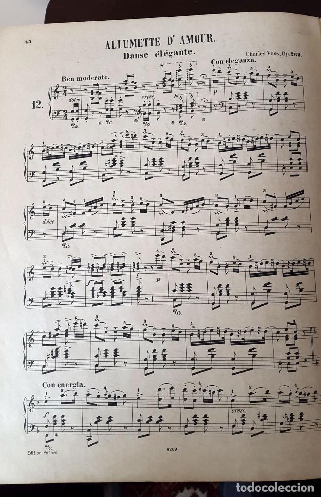 Partituras musicales: 42 PARTITURAS PIANO SOLO. SAMMLUNG LEIPZIG. ENCUADERNADAS XIX - Foto 9 - 80514865