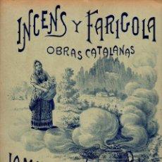 Partituras musicales: A. NICOLAU : LA MARE DE DEU - INCENS I FARIGOLA (LLOBET Y MAS, S/F) POESIA DE ADRIÀ GUAL. Lote 81800924