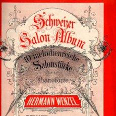 Partituras musicales: HERMANN WENZEL : DIEZ MELODÍAS PARA PIANO. Lote 81803000