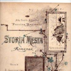 Partituras musicales: GASTALDON : STORIA MESTA. Lote 81803792