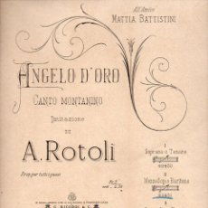 Partituras musicales: ROTOLI : ANGELO D' ORO (RICORDI). Lote 81805068