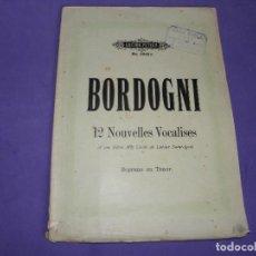 Partituras musicales: PARTITURA VOCALISES DE BORDOGNI EDICION PETERS. Lote 84627528