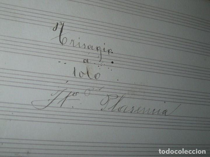 Partituras musicales: PLASENCIA PARTITURA MANUSCRITA TRISAGIO SOLO CIRCA 1900 - Foto 2 - 84915620