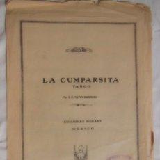 Partituras musicales: LA CUMPARSITA, TANGO. MATOS RODRÍGUEZ. 1950. Lote 85142480