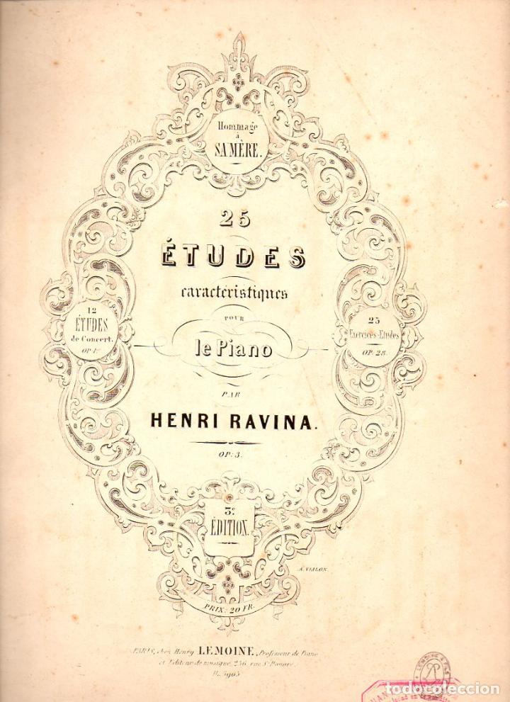 RAVINA : 26 ÉTUDES POUR LE PIANO (LEMOINE, PARIS) (Música - Partituras Musicales Antiguas)