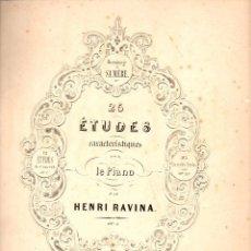 Partituras musicales: RAVINA : 26 ÉTUDES POUR LE PIANO (LEMOINE, PARIS). Lote 85191104