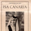 Partituras musicales: ISA CANARIA (MUSICAL ISLEÑA - TENERIFE). Lote 87037560