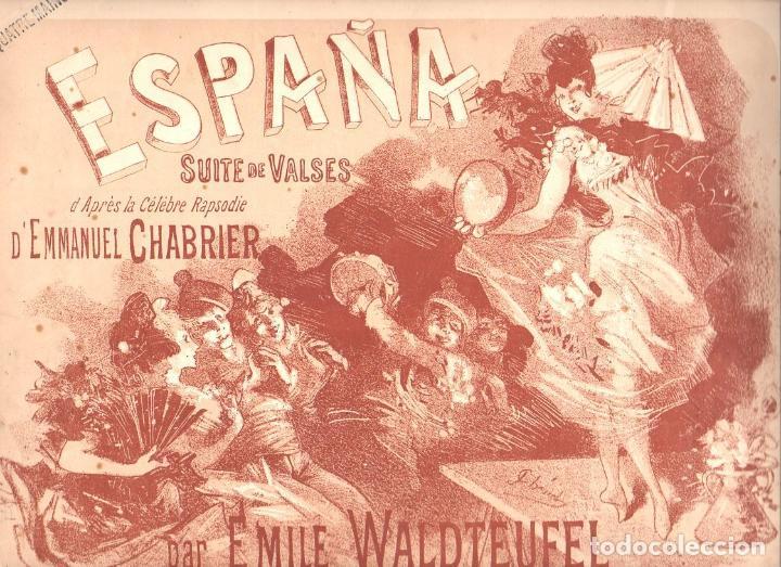 CHABRIER - WALDTEUFEL : ESPAÑA SUITE DE VALSES - PIANO A CUATRO MANOS (ENOCH EDITEURS, PARIS) (Música - Partituras Musicales Antiguas)