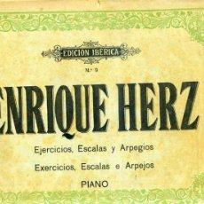 Partituras musicales: ENRIQUE HERZ : EJERCICIOS, ESCALAS Y ARPEGIOS DE PIANO (BOILEAU) . Lote 30215330