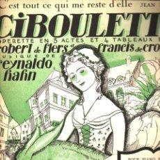 Partituras musicales: C'EST TOUT CE QUI ME RESTE D'ELLE - CIBOULETTE (SALABERT, 1923). Lote 87063616