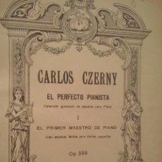 Partituras musicales: CZERNY, CARL EL PERFECTO PIANISTA CUATRO OBRAS IMPRESCINDIBLES ENCUADERNADAS 1 TOMO (AÑOS 50). Lote 87446532