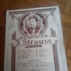 Partituras musicales: PARTITURA DE J. STRAUSS PARA PIANO. Lote 88133574