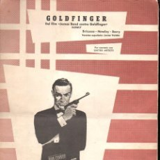 Partituras musicales: JAMES BOND : GOLDFINGER (HISPAVOX, 1965). Lote 88337288