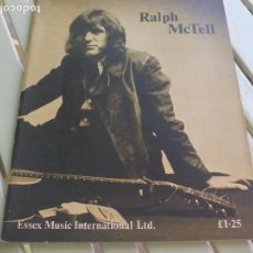 Partituras musicales: RALPH MCTELL. 1972. ESSEX MUSIC INTERNATIONAL PARTITURA, LIBRETO MUSIC SHEET. Lote 88658852