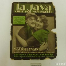 Partituras musicales: EDITIONS FRANCIS SALABERT LA JAVA DE MISTINGUETT 3 PÁGINAS ARGENTINA AÑO 1922. Lote 89710024