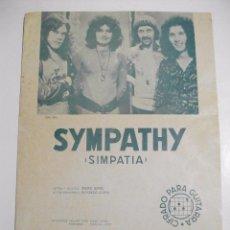 Partituras musicales: RARE BIRD PARTITURA SYMPATHY - SIMPATIA - EJEMPLAR DE PROMOCION. Lote 90640055